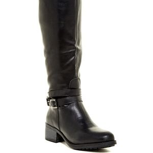 "BLACK Knee HIGH Riding BOOT ""Imelda"" SZ 7"